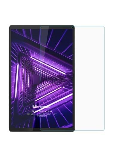 """Microsonic Lenovo Tab M10 Plus TB-X606F 10.3"""" (ZA5T0215TR) Tempered Glass Screen Protector Renksiz"""